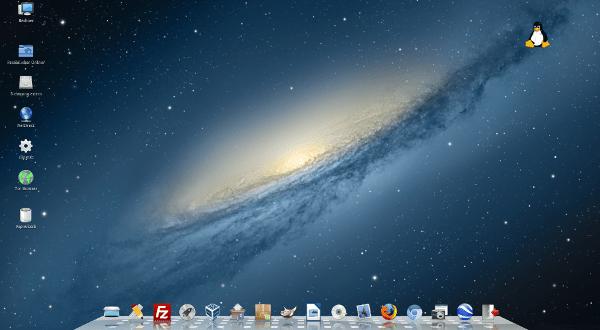 Mac OS Design auf Linux